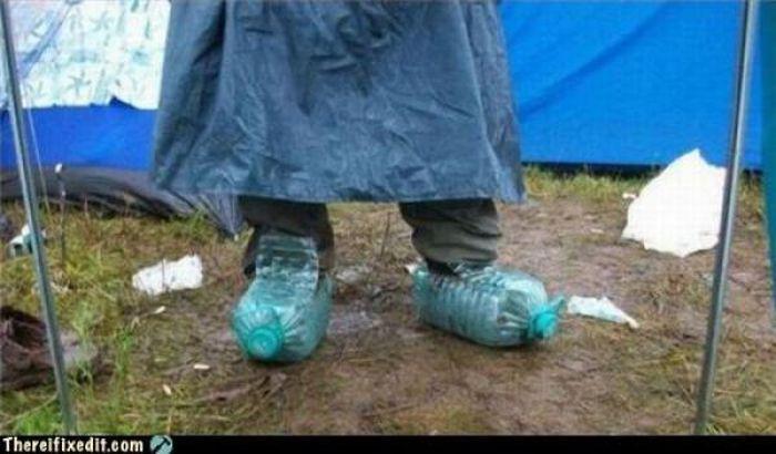 Обувь из пластиковых бутылок своими руками